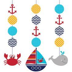 3 décorations à suspendre voilier pour l'anniversaire de votre enfant - Annikids