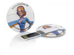 USB Karte Disc rund Werbeartikel günstig mit Druck Logo