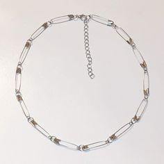 mini safety pin choker on Mercari Cute Jewelry, Jewelry Crafts, Beaded Jewelry, Jewelry Accessories, Handmade Jewelry, Handmade Accessories, Safety Pin Jewelry, Safety Pin Earrings, Safety Pins