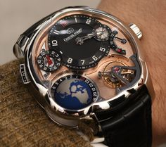 The totally incredible Greubel Forsey GMT Tourbillon Platinum . Luxury Watches, Rolex Watches, Cool Watches, Watches For Men, Amazing Watches, Wrist Watches, Mens Toys, Expensive Watches, Red Gold