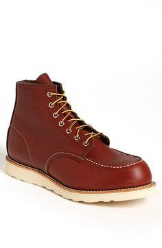 Red Wing 6 Inch Moc Toe Boot available at #Nordstrom