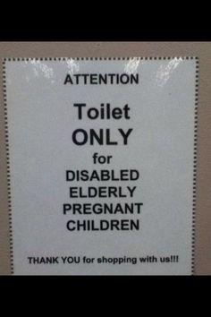disabled elderly pregnant children