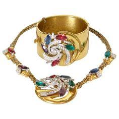 McClelland Barclay Art Deco Necklace and Bracelet Set