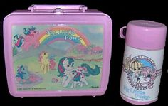 Definitely had this My Little Pony Lunch Box and Thermos - it may even still be at Mom and Dad's!