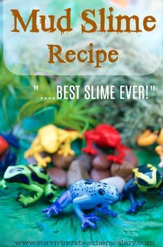 rainforest frogs sensory bin and mud slime recipe play for kids