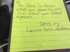 speak by laurie halse anderson school reading resources and  speak by laurie halse anderson quote