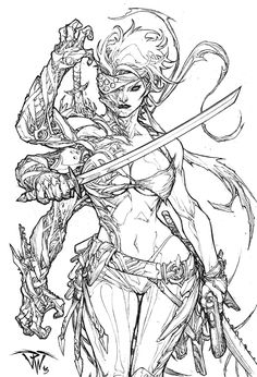 Cover for upcoming 10 fir 10 project of Aspen Comics status :sold Pencil on line by Paolo Pantalena (me) For commission inquires drop me a line. Ara of Jirni Comic cover from Aspen Comic Book Artists, Comic Artist, Comic Books Art, Cool Drawings, Drawing Sketches, Monochrom, Character Design Inspiration, Figure Drawing, Coloring Books