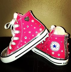 Swarovski Converse Customized Infant/Toddler by MyTreasuredCharms