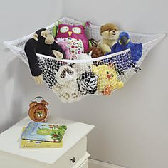 Up & Away Toy Hammock: The biggest, strongest toy hammock we found! This quality hammock stretches to 6'L and holds up to 25 lbs. It can even hold sporting goods! Great kids' room organizer; gets stuffed animals off the floor and neatly contained. Hang from walls, ceiling, or corner...