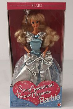 NRFB LE 1994 Silver Sweetheart Beaute Argentee Barbie Doll NIB Foreign Issue