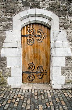 Christ Church Cathedral door, Dublin, Ireland