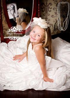 Keepsake Session (My Daughter in my wedding dress)… Little Girl Wedding Dresses, Wedding Dress Pictures, Wedding Dresses For Girls, Wedding Pics, Designer Wedding Dresses, Flower Girl Dresses, Baby Wedding, Mom Dress, Dress Girl