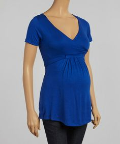 Look what I found on #zulily! Royal Maternity Surplice Tunic #zulilyfinds