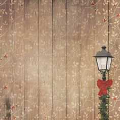 Paper House Productions - Winter Wonderland Collection - 12 x 12 Paper - Winter Lamp Post at Scrapbook.com