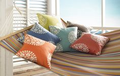 Kravet Soleil Fabrics | Indoor / Outdoor fabric for UV protection and ultimate durability | #Patio #Cushions
