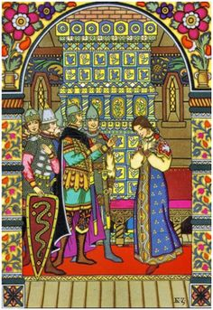Сказочный художник Борис Васильевич Зворыкин Сказка о мертвой царевне и семи богатырях