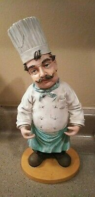 Large Collectible Vintage Chef French Italian Kitchen Restaurant Statue Figure Condition Is Used Shipped With Italian Kitchen Italian Kitchen Decor Statue