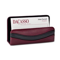 Dacasso Two-Tone Business Card Holder