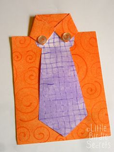 last minute father's day shirt and tie card   Little Birdie Secrets