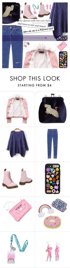 """Yoins 2/10 ♥"" by av-anul ❤ liked on Polyvore featuring WithChic, Dr. Martens, Casetify, Lazy Oaf and Pusheen"