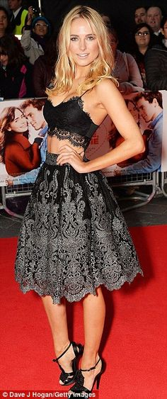 Look at me: Kimberley did her best to steal attention away from the main stars of the movie