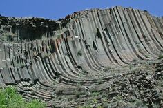 Twisted Columns of Basalt in Hells Gate State Park Lewiston, Idaho