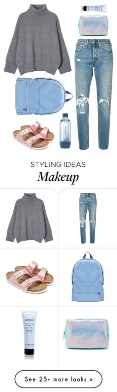 """""""blue jeans"""" by katniss1212 on Polyvore featuring Levi's, Forever 21, Givenchy, Birkenstock and Sodastream"""