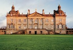 The west front of Houghton Hall, in Norfolk, England; the house was begun in Photos: Photos: Houghton Hall's Splendor—and Legendary, Sketch-Filled Guestbook English Architecture, Georgian Architecture, Classical Architecture, Kingsman, Houghton House, Houghton Hall, English Manor Houses, English Castles, Cottage