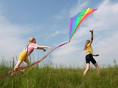 flying kites!