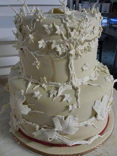 Simple Fall Wedding Cake   by Karen Portaleo