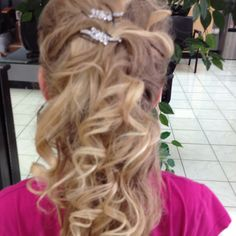 My sister's hair for the pageant Tessa