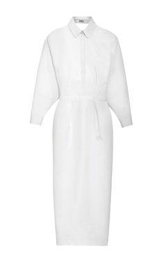 Cotton Shirtdress With Cutout Back by Prabal Gurung for Preorder on Moda Operandi