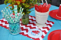 Personalized Chevron Paper Placemat for a Party by TIPgifts, $22.25