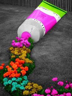 Outdoor Art, Outdoor Gardens, Art Area, Splash Photography, Environmental Art, Land Art, Lawn And Garden, Garden Projects, Trees To Plant