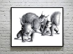 Three Funny Squirrels Cross Stitch Pattern Cute Animal