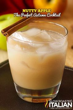 Nutty Apple Cocktail Recipe ~ Smooth and welcoming hazelnut and apple flavors with caramel undertones are wrapped in french vanilla cream to make this a perfect for anyt...
