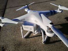 The DJI Phantom 2 Vision plus Quadcopter is a prosumer device that boasts a built-in GPS unit and a built-in camera you can remotely control through your phone
