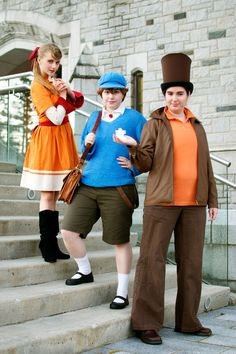 """Professor Layton: The Dynamic Trio"" by AnyaPanda.deviantart.com on @deviantART -- #ProfessorLayton #LukeTriton #FloraReinhold #videogame #cosplay #costume #costumes"