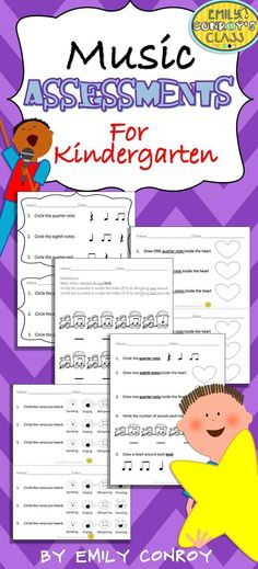 These assessments include 12 assessments for kindergarten music students and one cumulative assessment to use as a pre or post-assessment!