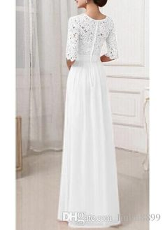 Wholesale latest wedding gown, mature wedding dresses and photos of wedding dresses on DHgate.com are fashion and cheap. The well-made hot sale lace and chiffon 1/2 long sleeve a-line wedding dresses 2016 with jewel collar sweep train cheap wedding gowns custom made sold by liuliu8899 is waiting for your attention.