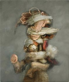 GL Brierley   Jizee, 2011.   Oil on Wood.   48 x 40 cm