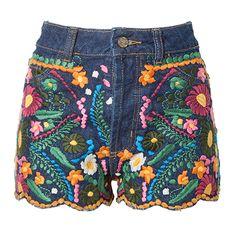 Short jeans Farm bordado