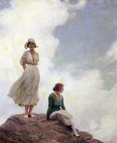 Charles Courtney Curran (1861-1942) The Boulder 1919