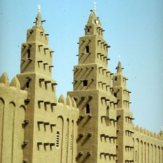 The Great Mosque of Niono, Mali - an example of deep and powerful tradition of vernacular architecture.