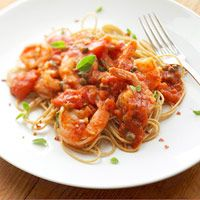 Spaghetti with Tomatoes & Shrimp   20 Healthy Dinner Recipes Under $3 per serving