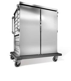 GTARDO.DE:  Tablettwagen für 40 EN o. GN-Tabletts, einwandig, 2 Schränke mit Flügeltüren, BxTxH 1452x956x1636 mm 3 050,00 €