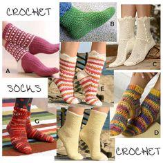 Crochet Socks Seven Free Patterns