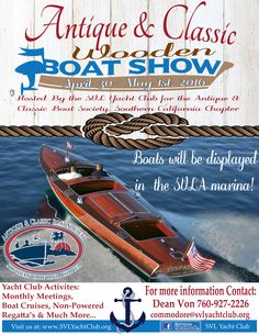 SPRING VALLEY LAKE WOODEN BOAT SHOW COMING SOON...