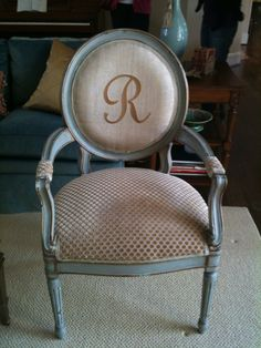 This chair was customized for a special client and now adorns a gorgeous space ... Lucky.