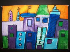 WHAT'S HAPPENING IN THE ART ROOM??: 2nd GRADE--Cityscapes